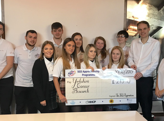 SGS apprentices raise cash for local charities