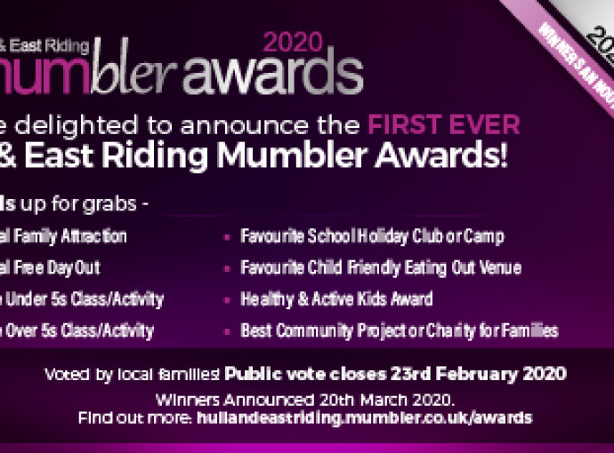 First Mumbler Awards to celebrate the best of things to do for families in East Yorkshire