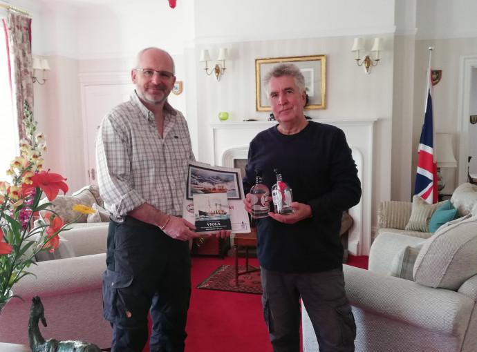 Falklands Governor responds to Viola message in a bottle