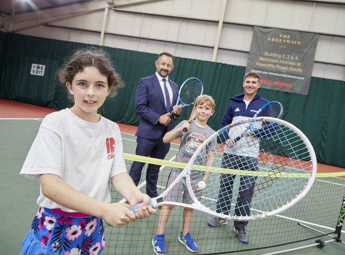 Housebuilder serves up inspiration for next generation with tennis partnership
