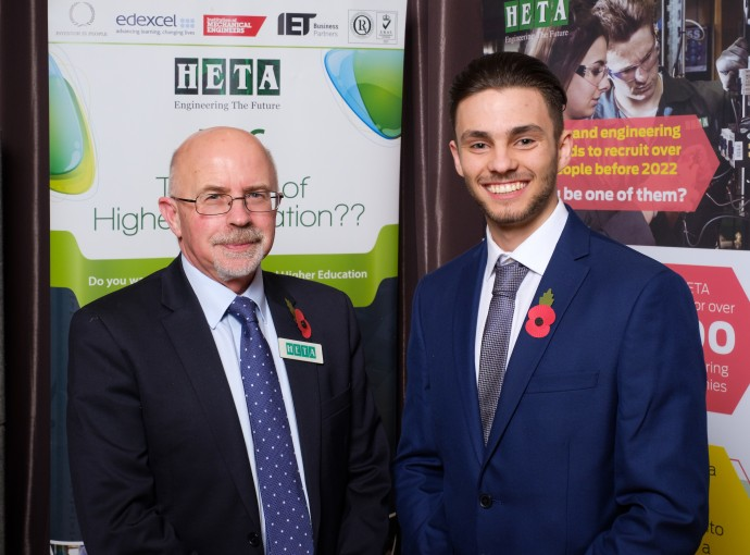 HETA old boy urges apprentices to aim for the top