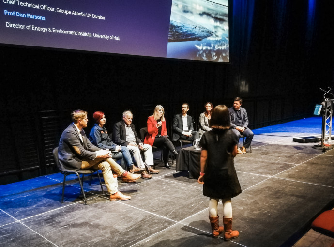 Lucie's climate change plea to Waterline Summit delegates