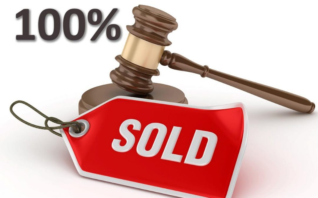 100% of lots sold at busy second online property auction of 2021