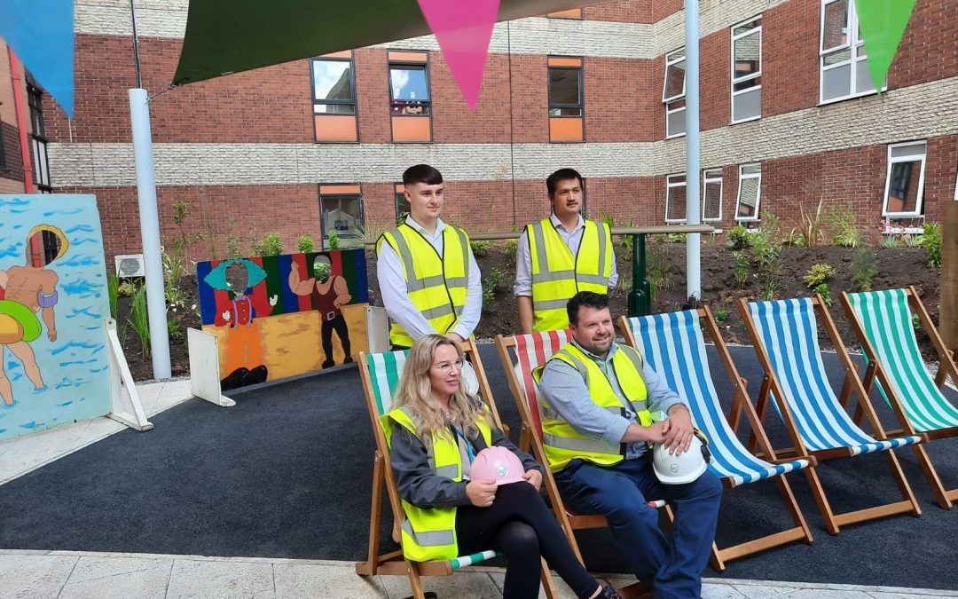 Hospital staff celebrate opening of wellbeing space built by Sewell Group firm
