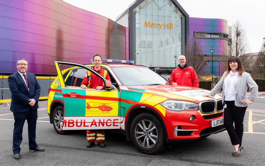 Merry Hill announces new partnership with Midlands Air Ambulance Charity