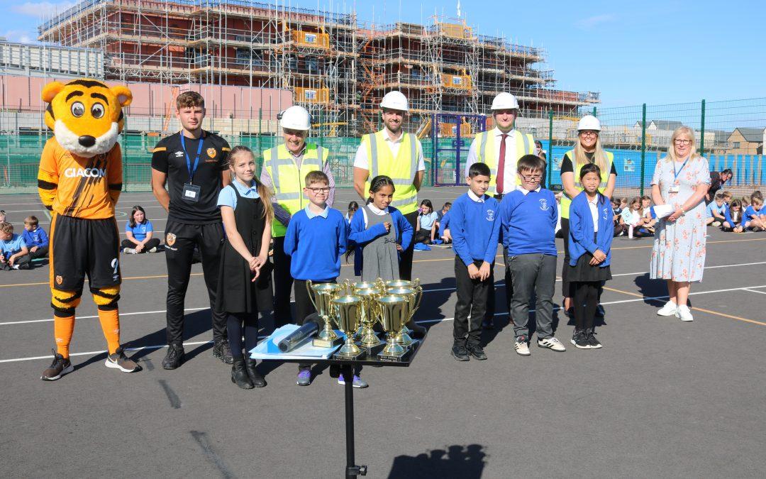 Game on: Hull Esteem celebrates sporting milestone with Broadacre Primary School