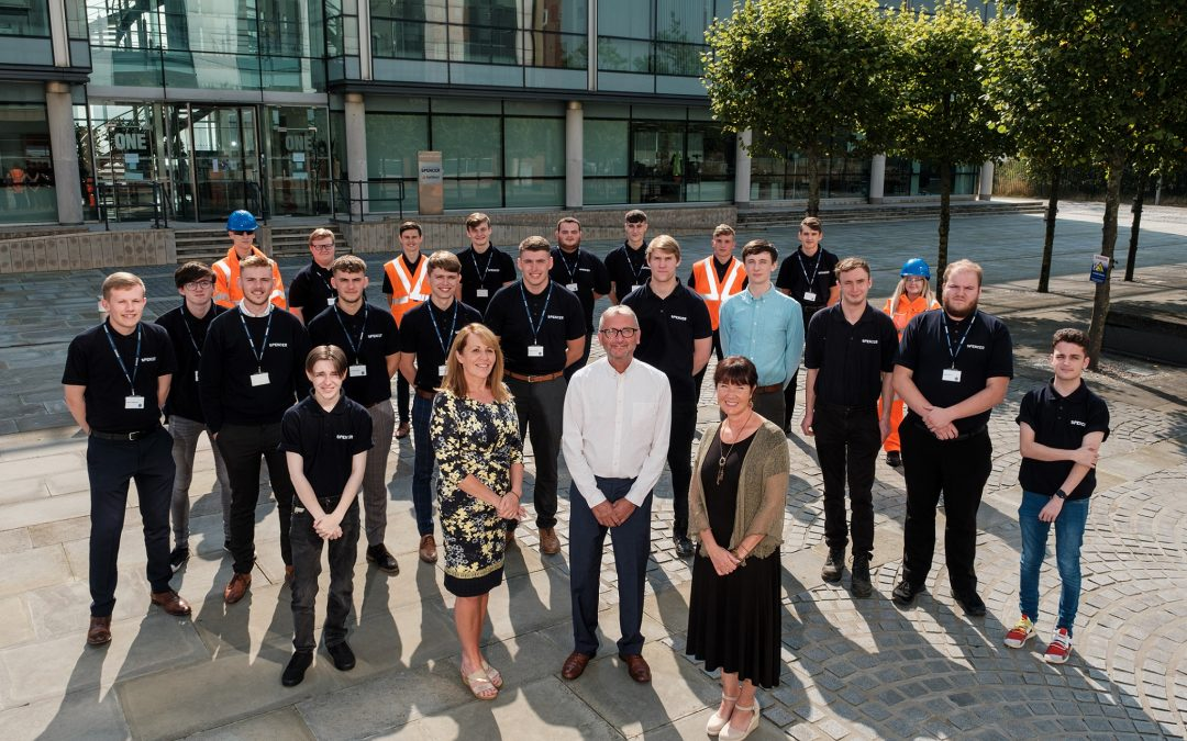 Largest intake of Spencer Group apprentices all secure full-time positions